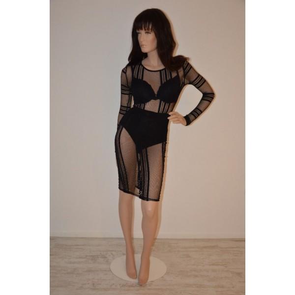 Doorzichtige jurk zwart