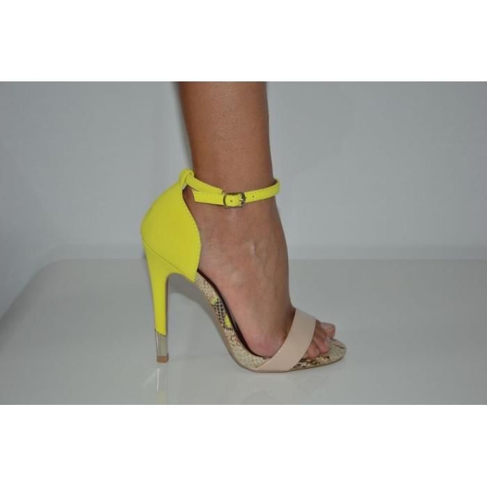 Neon Yellow Single Sole Sandal