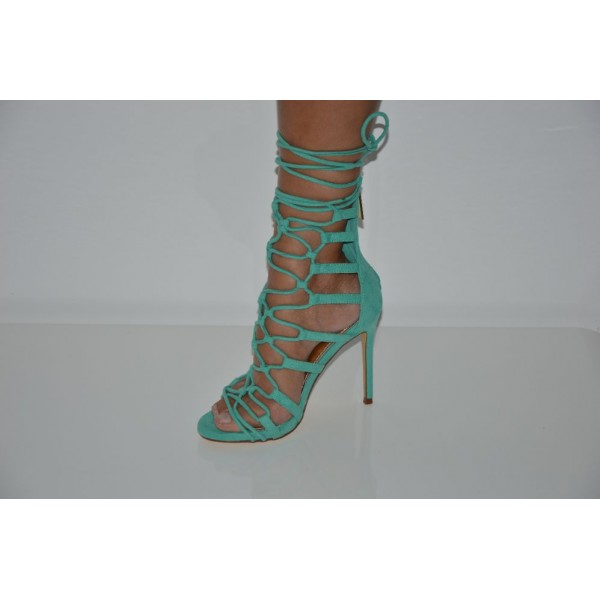 Seagreen String Tie Strappy Single Sole