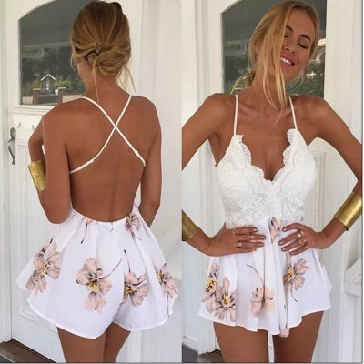 Open Back Jumpsuit White